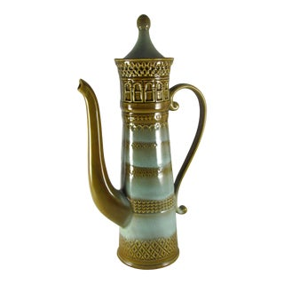 Extra Tall Bitossi Raymor Rosenthal Netter Style Castle Coffee Pot For Sale