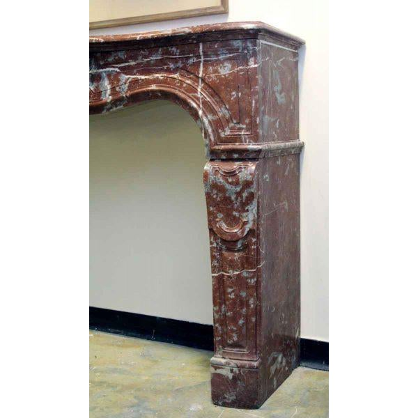 Louis XV Style Marble Mantel - Image 4 of 6