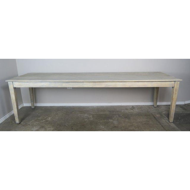 1900 - 1909 Swedish Painted Farm Table, Circa 1900 For Sale - Image 5 of 11