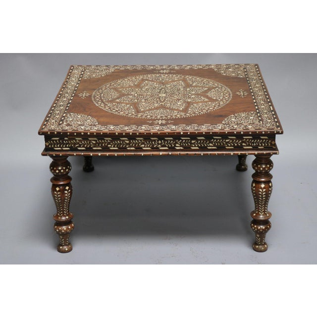 Wood and Bone Inlay Table For Sale In Los Angeles - Image 6 of 6
