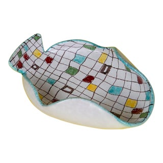 Mondrian Style Catchall by Bitossi For Sale