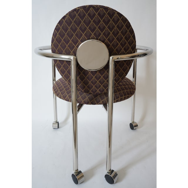 """1980s Vintage Stanley Jay Friedman for Brueton """"Moon Chair"""" - 4 Are Available For Sale - Image 5 of 9"""