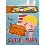 Image of 1940s Original Oversize French Poster, Sable du Mans For Sale