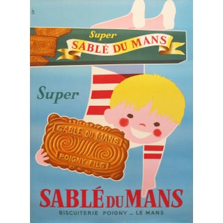1940s Original Oversize French Poster, Sable du Mans For Sale