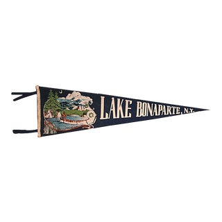 Vintage Lake Bonaparte, New York Pennant For Sale