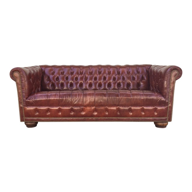 Vintage Chesterfield Leather Sofa - Image 1 of 5