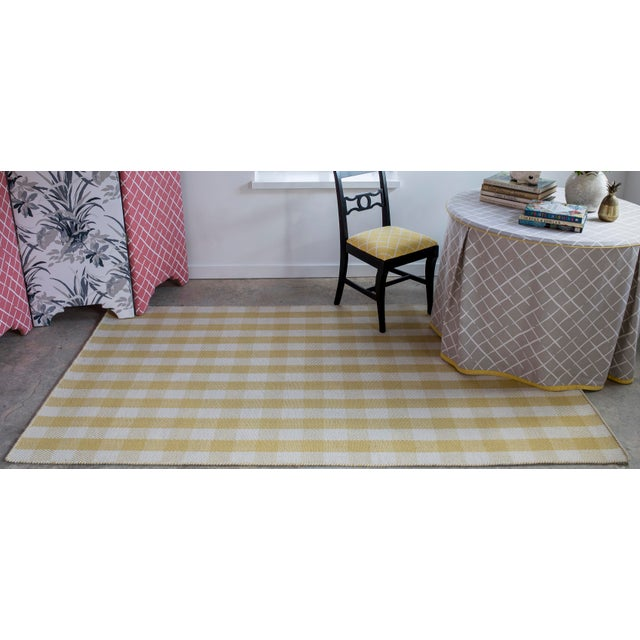 """Textile Madcap Cottage Highland Fling a Scotch Please Gold Area Rug 7'9"""" X 9'9"""" For Sale - Image 7 of 8"""