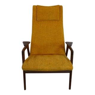 1960s Mid-Century Modern Tall Back Armchair For Sale