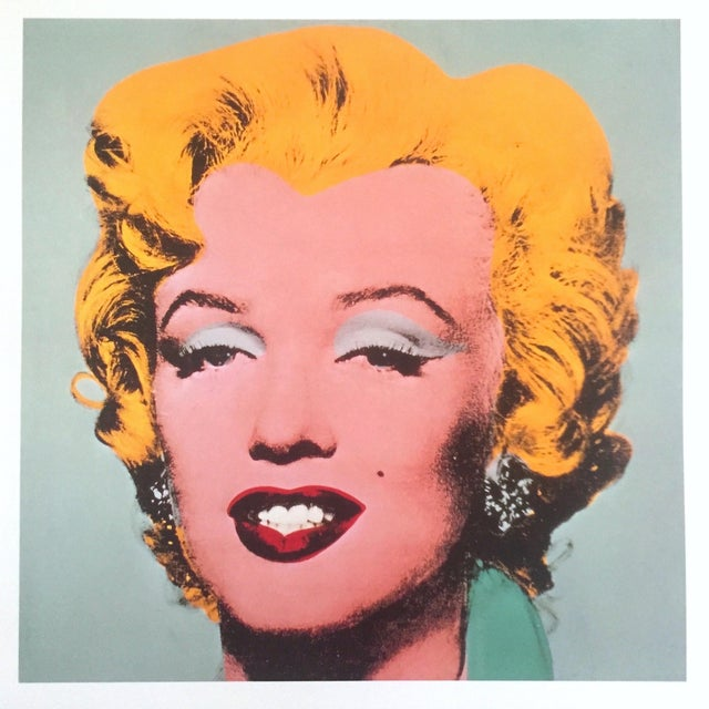 """1980s Andy Warhol Estate Rare Vintage 1989 Collector's Pop Art Lithograph Print """" Marilyn """" 1964 For Sale - Image 5 of 10"""