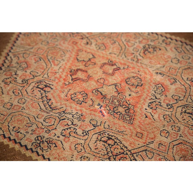 """Antique Fine Senneh Square Rug - 4'1"""" X 5' For Sale In New York - Image 6 of 9"""