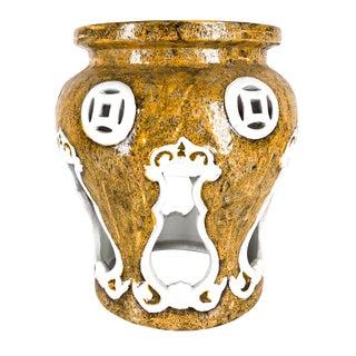 Modern Ceramic Italian Made Garden Stool For Sale