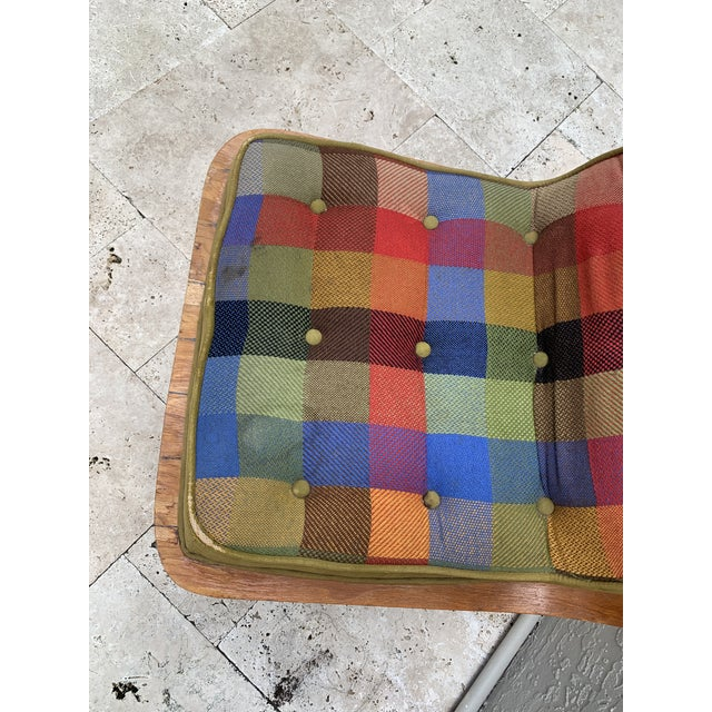 Fabric Mid Century Carter Brothers 200 Scoop Chair For Sale - Image 7 of 13
