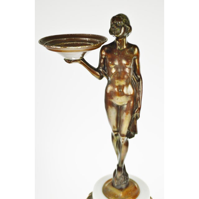 Art Deco Figural Lighted Ashtray Stand - Image 2 of 10