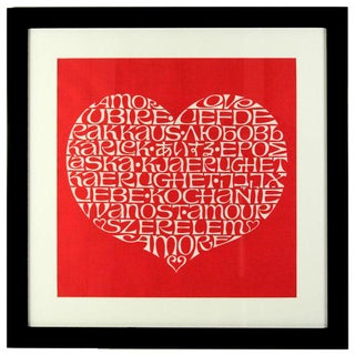International Heart Textile Art by Alexander Girard For Sale
