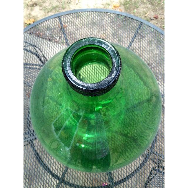 Vintage Italian Green Glass 54 Liter Demijohn - Image 4 of 7