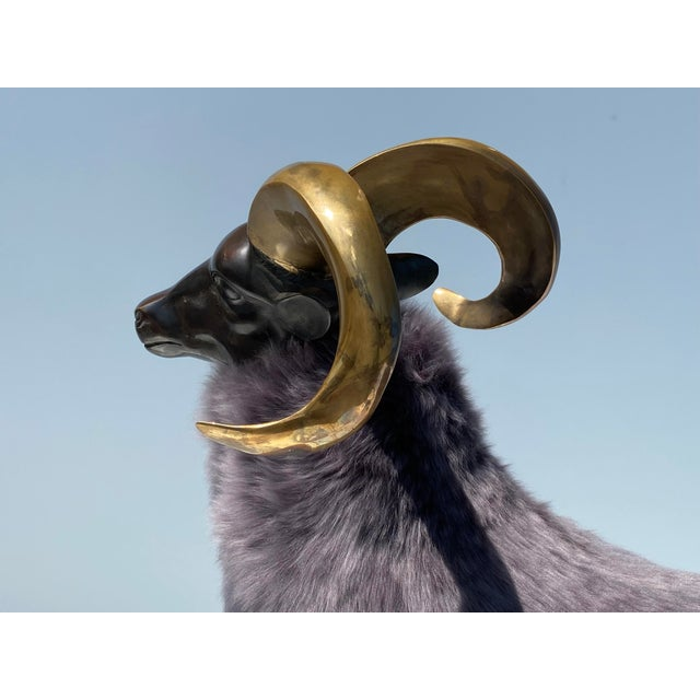 Late 20th Century Brass Sheep Sculpture In the Style of Claude Lalanne For Sale - Image 10 of 13
