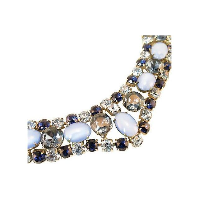 D&e Juliana Sapphire & Cats-Eye Art Glass Necklace Set, 1960s For Sale - Image 4 of 8