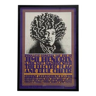 Framed Jimi Hendrix Poster For Sale