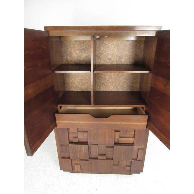 Brutalist Vintage Modern Brutalist Bedroom Set by Lane Furniture For Sale - Image 3 of 11