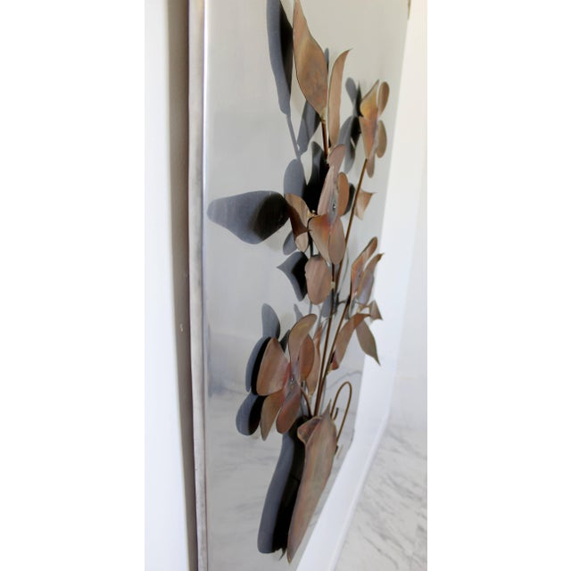 Kovacs 1970s Mid-Century Modern Aluminum Copper Wall Art Sculpture by Alex Kovacs For Sale - Image 4 of 8