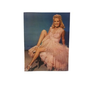 "Vintage Color Print on Paper, ""Betty Grable"", Circa 1955 For Sale"