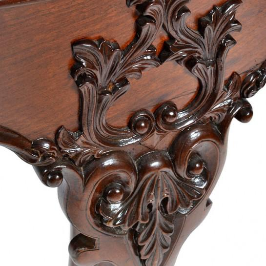 Wood 19th Century Traditional Oval Mahogany Center Table For Sale - Image 7 of 11