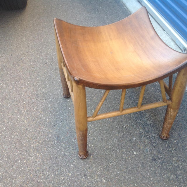 Modern Modern Mid Century Style Stool For Sale - Image 3 of 5