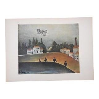 Vintage Ltd. Ed. Post-Impressionist/Surrealist Lithograph-Henri Rousseau (Fr. 1844-1910) For Sale
