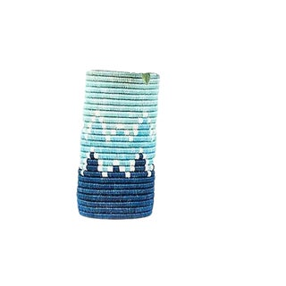 Aqua Blue Vase For Sale