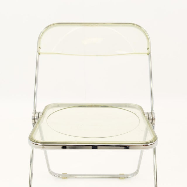 Vintage Mid Century Anonima Castelli Italian Lucite Folding Chairs- Set of 6 For Sale - Image 10 of 11