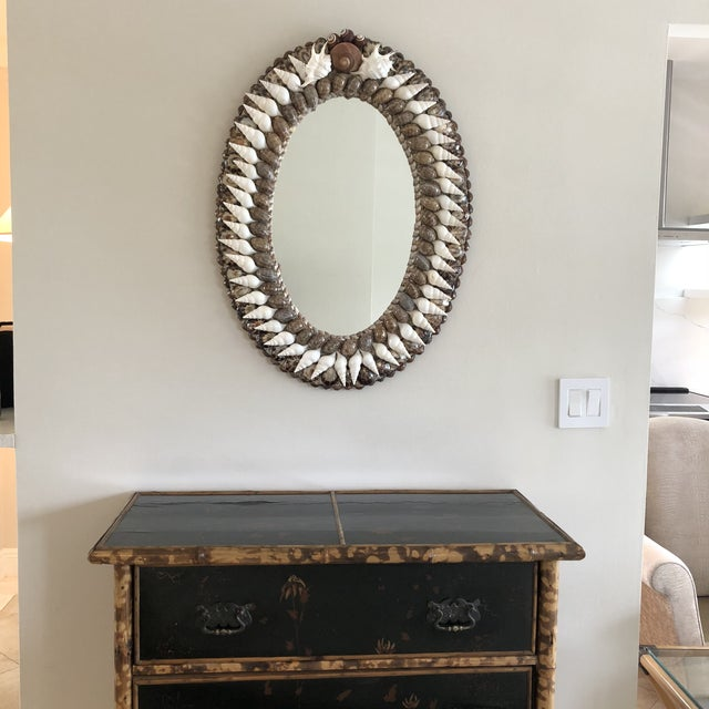 Medium-sized, Classic oval Empire-style Mirror perfect for so many spots. Needs crating ($125)