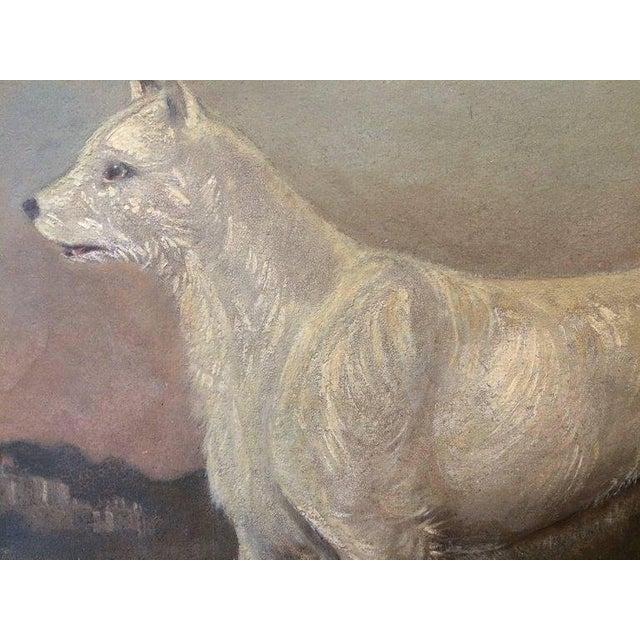 Portraiture 19th Century Antique Dog Portrait Painting For Sale - Image 3 of 6