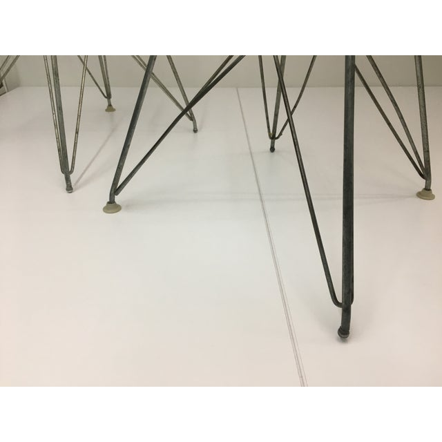 Authentic Vintage White Wire Eiffel Chairs by Charles Eames for Herman Miller - Set of 3 For Sale In New York - Image 6 of 12