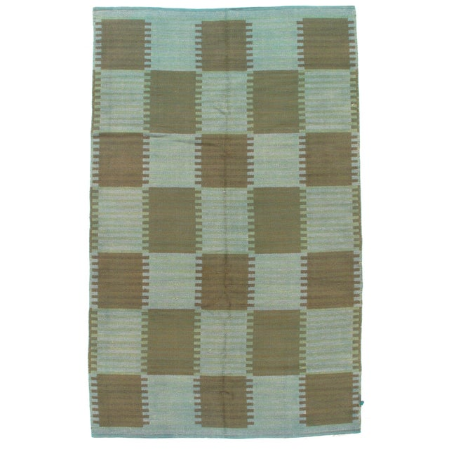 """Pasargad Scandinavian Design New Zealand Overdyed Wool Rug - 7′7"""" × 9′1"""" For Sale In Washington DC - Image 6 of 6"""