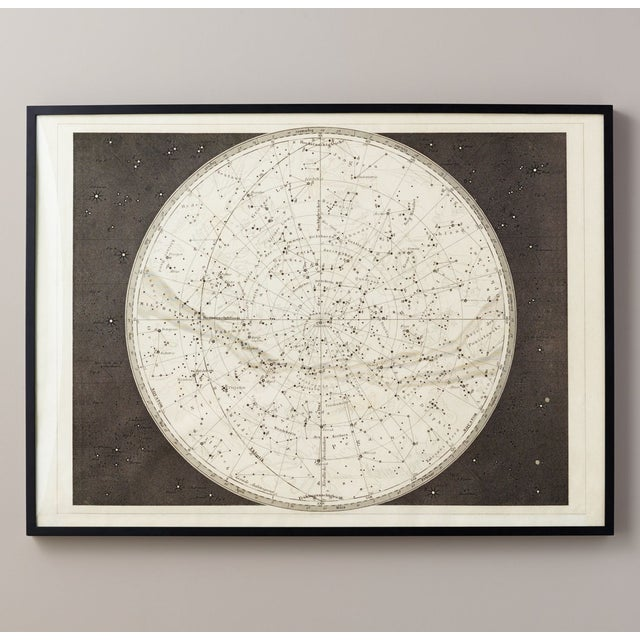 Paper 19th Century Celestial Map Framed Print For Sale - Image 7 of 7