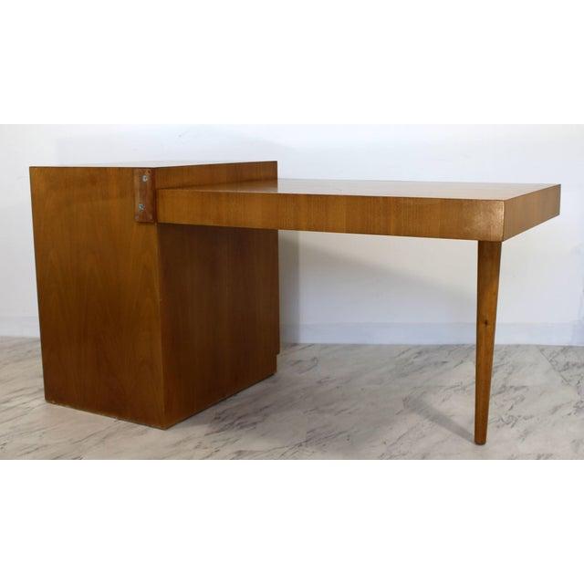 Mid-Century Modern Mid-Century Modern Robsjohn Gibbings for Widdicomb Walnut Cantilever Desk, 1950s For Sale - Image 3 of 11