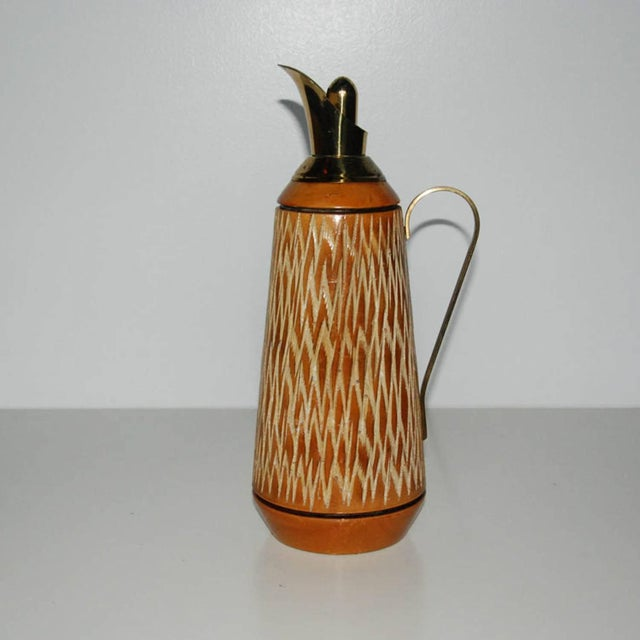 Aldo Tura Wood & Brass Decanters - A Pair For Sale In Richmond - Image 6 of 11