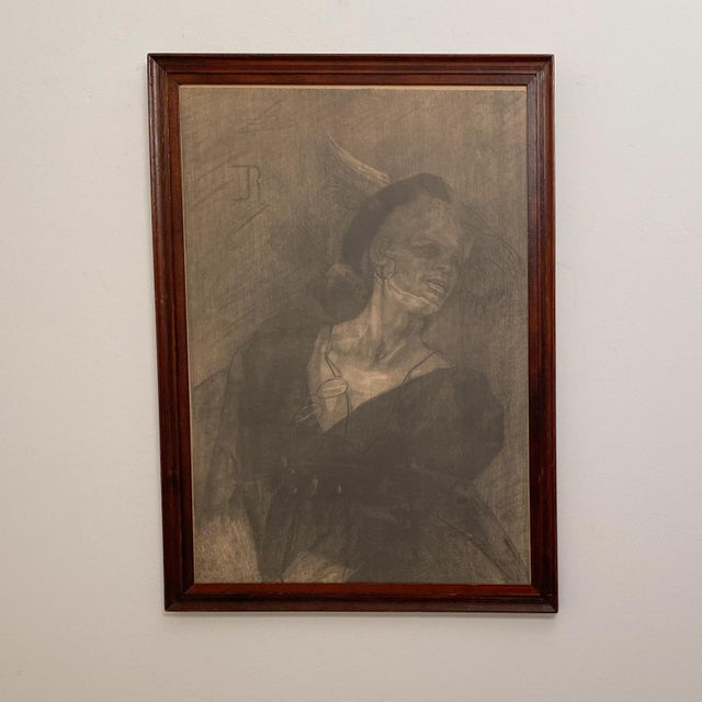 Early 20th Century Lithograph of a Mature Entertainer, Germany Circa 1900 For Sale - Image 5 of 5