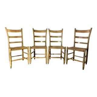 Early 19th Century Primitive Rush Chairs For Sale