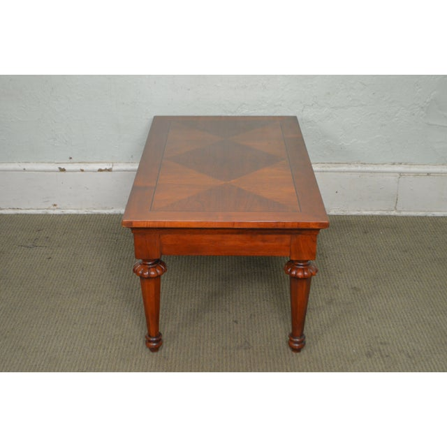 Lexington Cherry Wood Regency Style Rectangular Coffee Table - Image 3 of 10