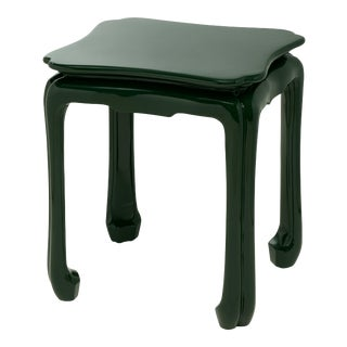KRB New York Collection Chinoiserie Table in Bottle Green For Sale