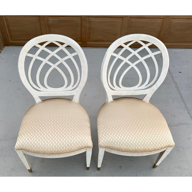 1990's Henredon Side Chairs - Set of 2 For Sale - Image 9 of 13
