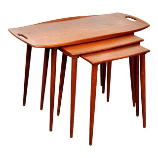 Set of Jens Quistgaard for Richard Nissen Teak Nesting Tables For Sale