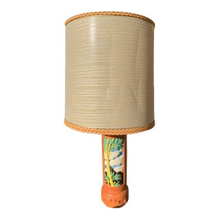 Vintage Tropical Motif Tiki Table Lamp For Sale