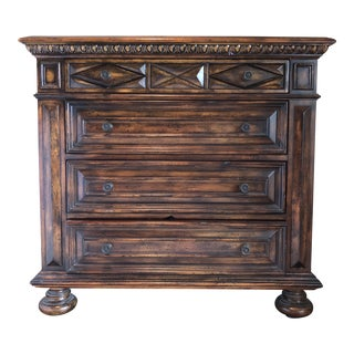 Traditional Hooker Seven Seas 4-Drawer Distressed Bureau For Sale