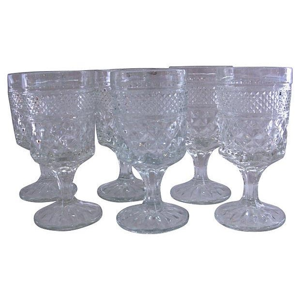1950s Pressed Cocktail Glasses - Set of 6 - Image 1 of 3