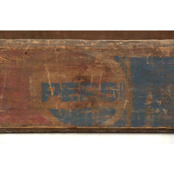 Worn Vintage Wooden Pepsi Crate For Sale - Image 6 of 10