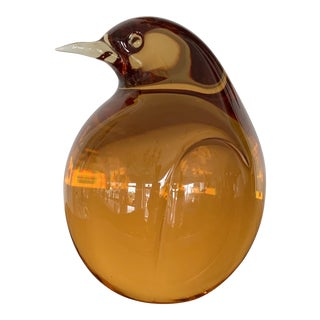 Seguso Glass Pigeon Paper Weight For Sale