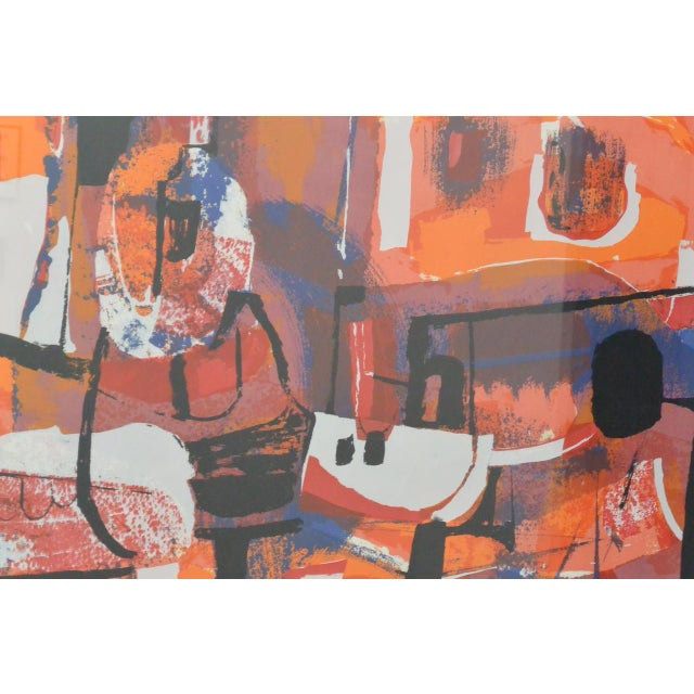 Abstract Vintage Abstract Serigraph For Sale - Image 3 of 6