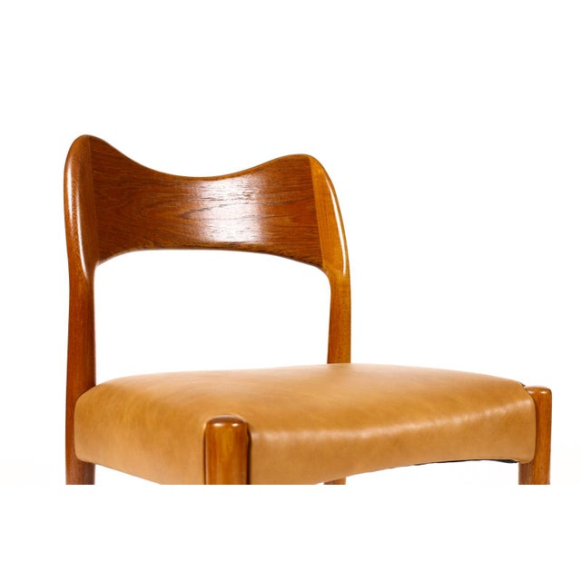 Wood Vintage Mid Century Danish a.h. Olsen for Mogens Kold Teak Dining Chairs- Set of 6 For Sale - Image 7 of 10
